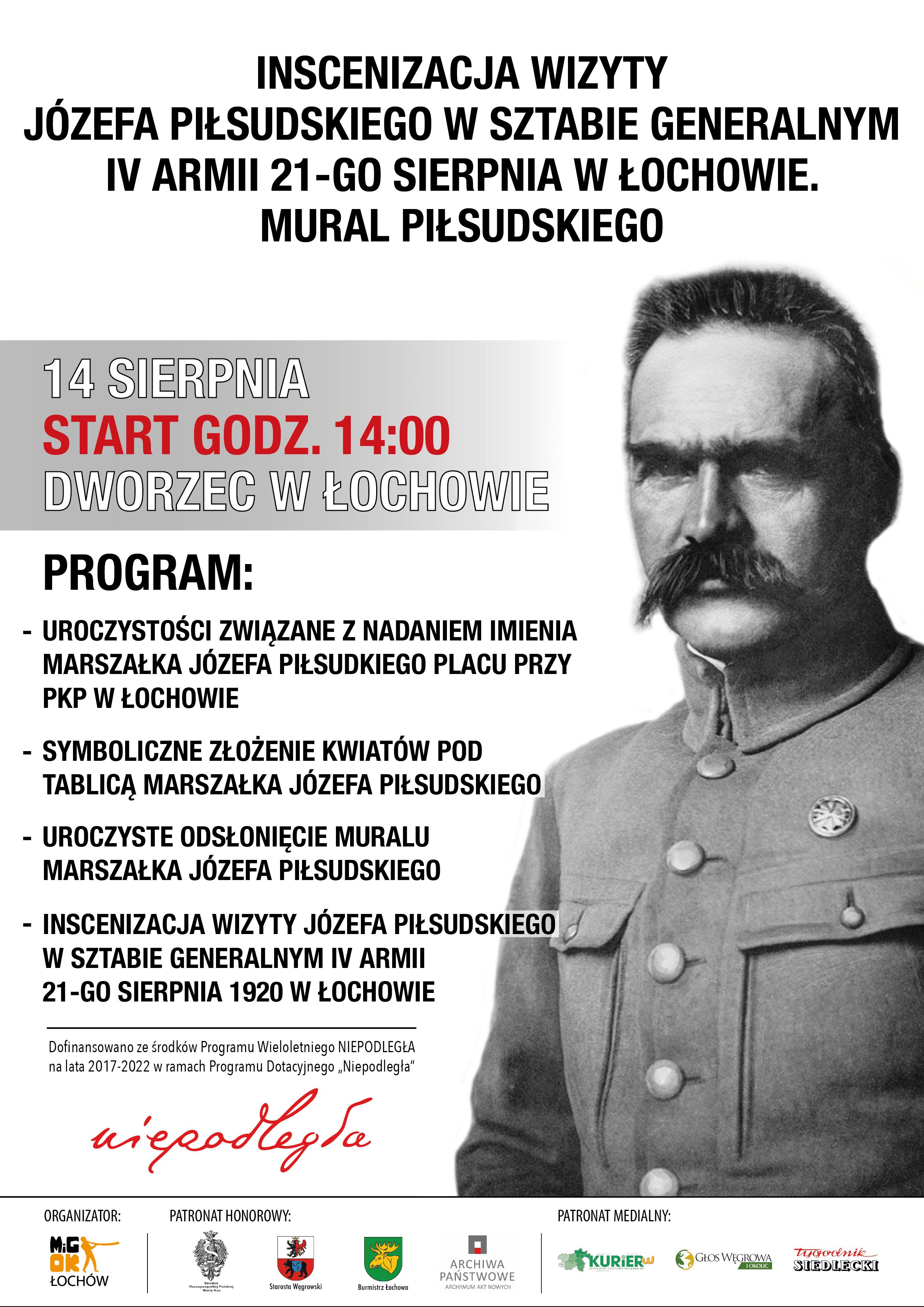 Inscenizacja Piłsudski plakat