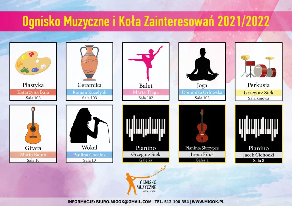 Ognisko Muzyczne i Koła Zainteresowań 2021/2022